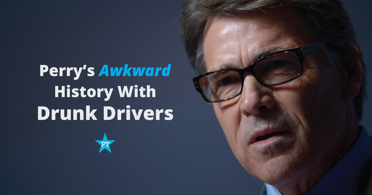 Rick Perry's Inconvenient History With Republicans Charged with Drunk Driving