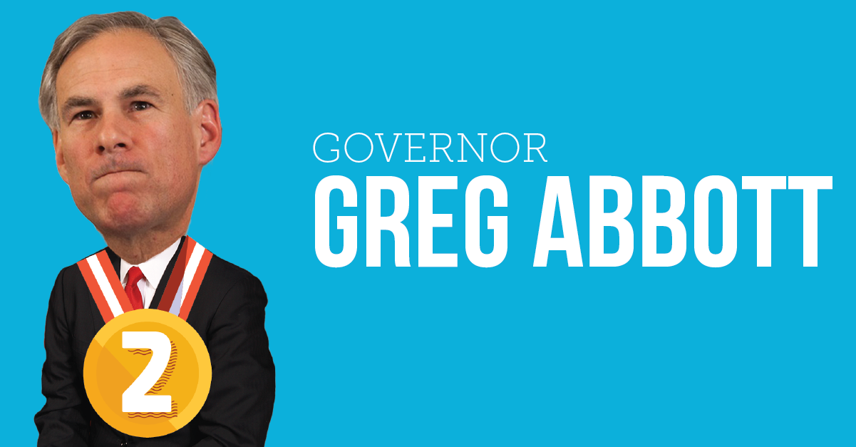 Governor Greg Abbott Worst Texans 2015