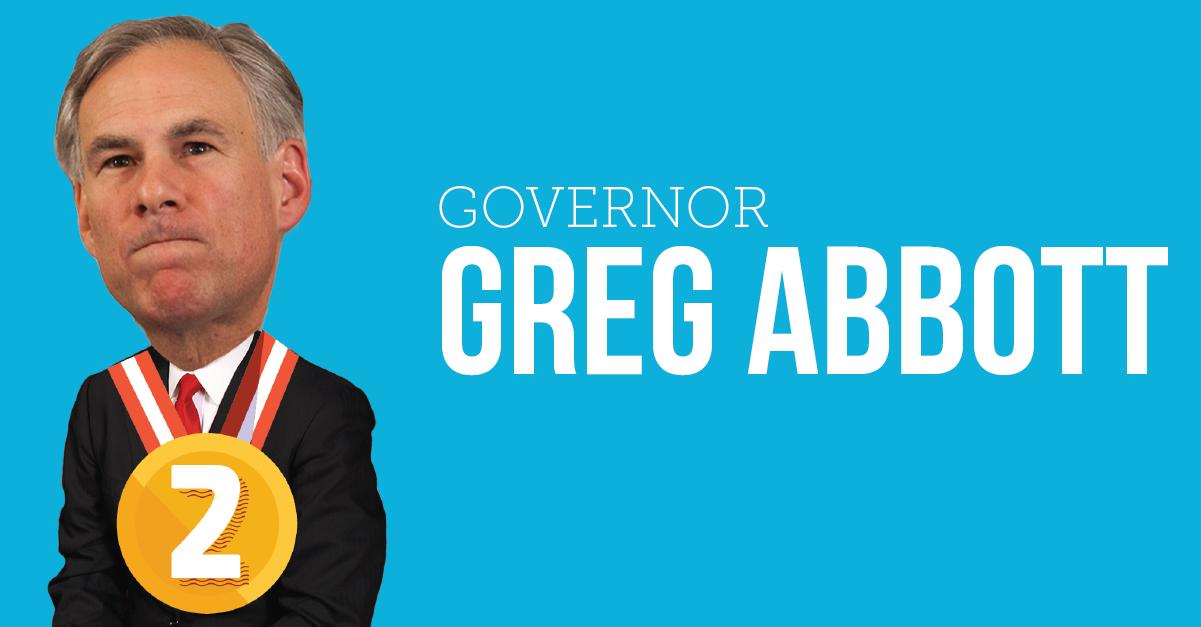 Governor Greg Abbott Worst Texans 2015