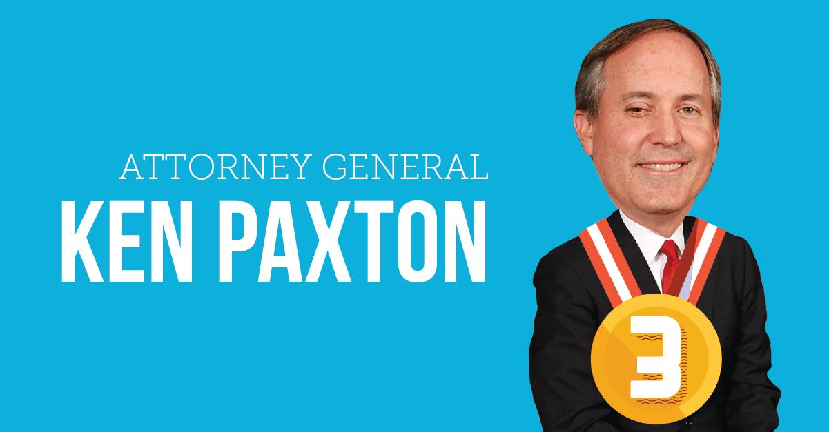 Ken Paxton Worst Texans 2015
