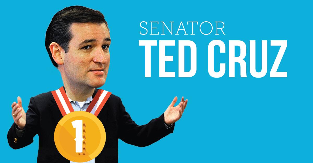 Senator Ted Cruz Worst Texans 2015