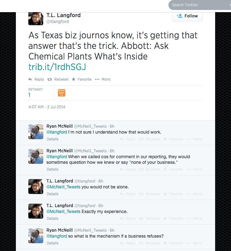 Chemical Road Trip Tweet