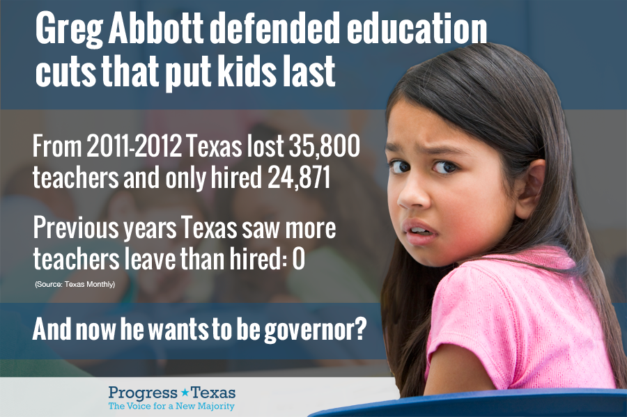 Greg Abbott - Education Cuts
