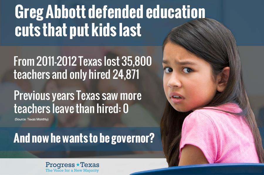Greg Abbott - Education Cuts