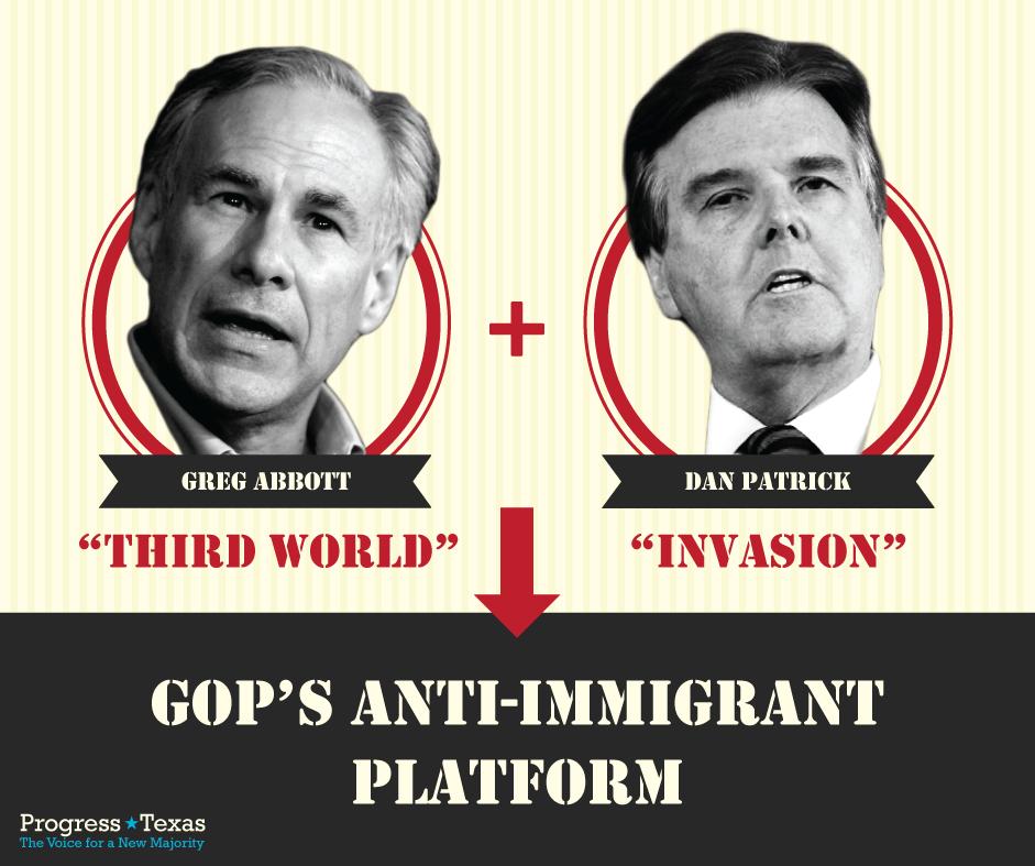 Greg Abbott & Dan Patrick - Anti-Immigrant