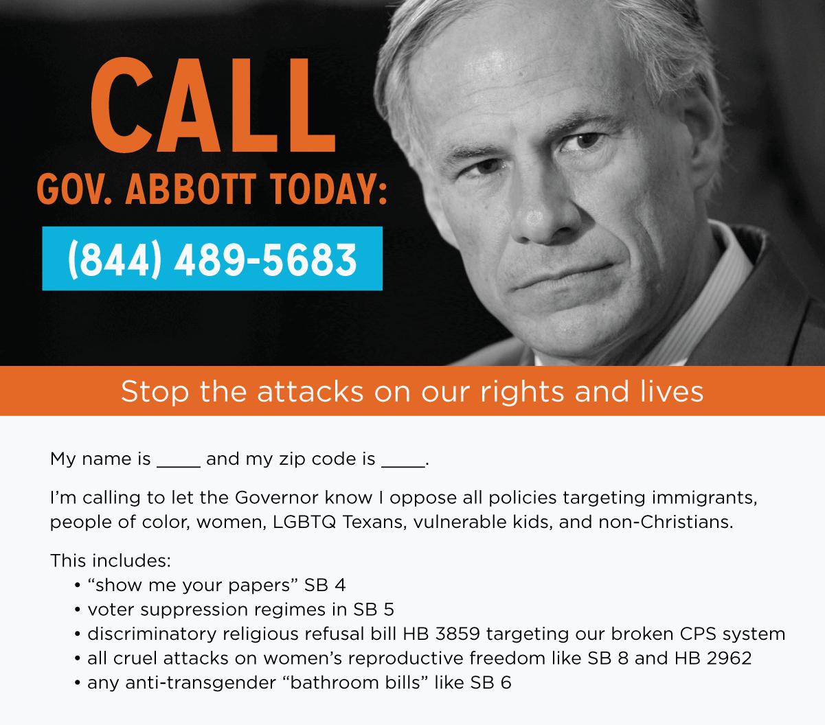 Greg Abbott Texas Legislative Session Call