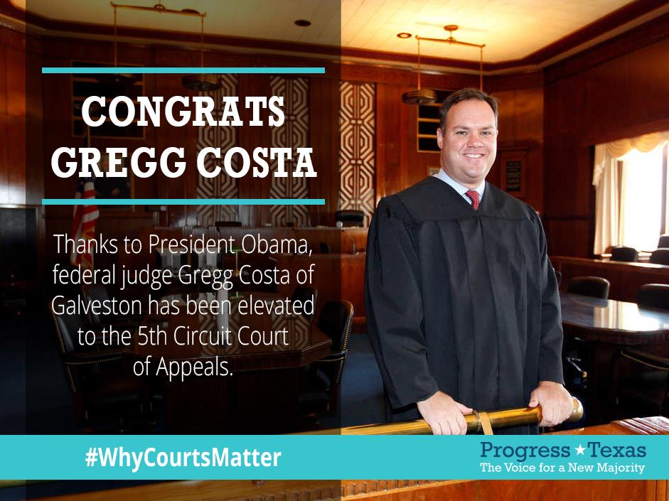Gregg Costa Confirmed