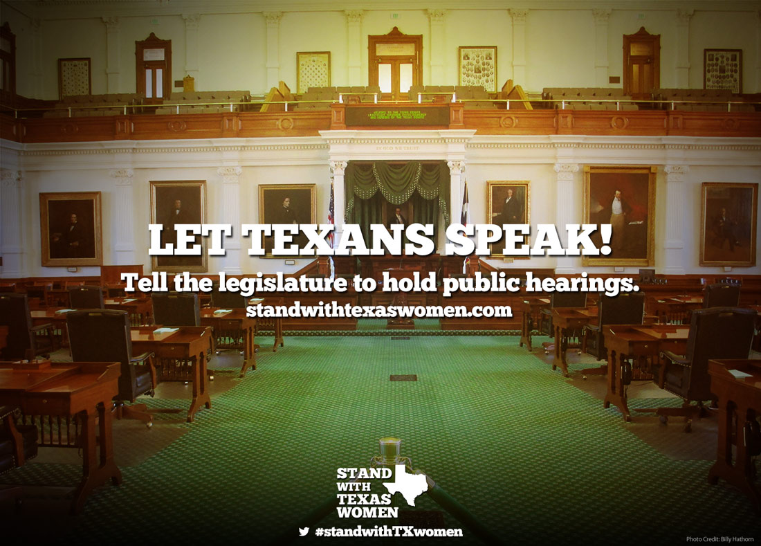 Stand With Texas Women: Let Them Speak
