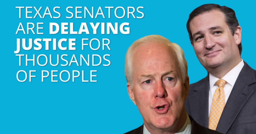 John Cornyn and Ted Cruz Delay Justice