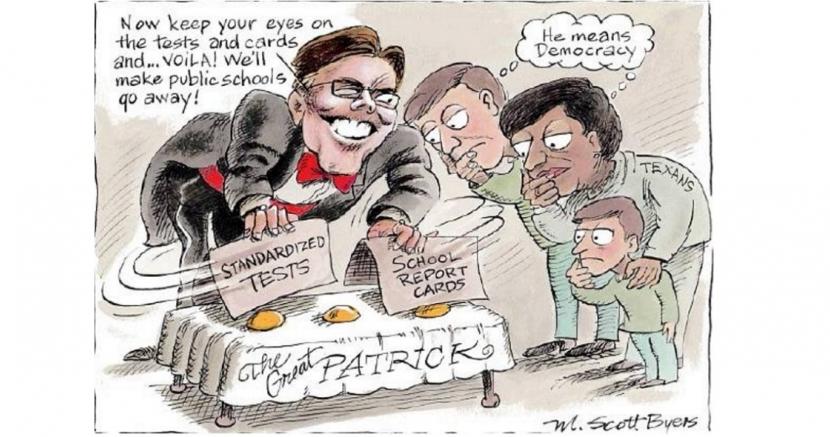 Dan Patrick Loves Vouchers, Hates Public Schools