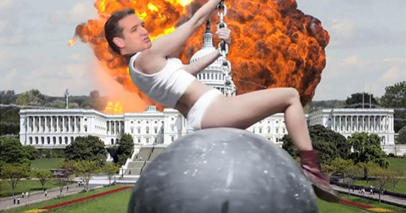 Ted Cruz Came In On a Wrecking Ball