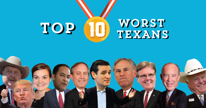 Top 10 Worst Texans of 2015