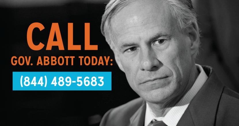 Call Greg Abbott Progress Texas number