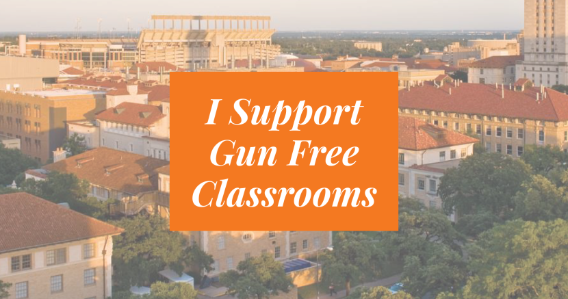 I Support Gun Free Classrooms