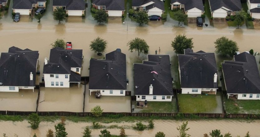 Hurricane Harvey Flood Damage