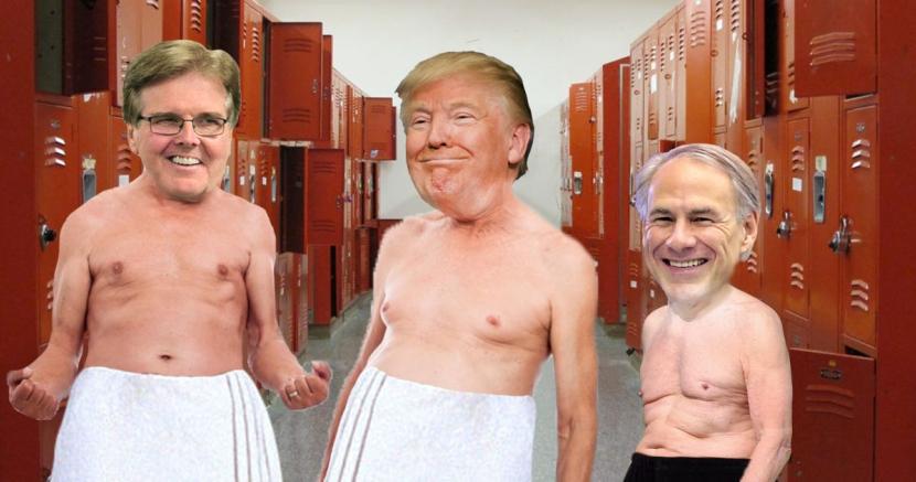In the Locker Room with Donald Trump, Greg Abbott, and Dan Patrick