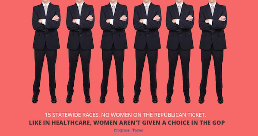 The 2014 Republican Ticket, Men: 15, Women: 0