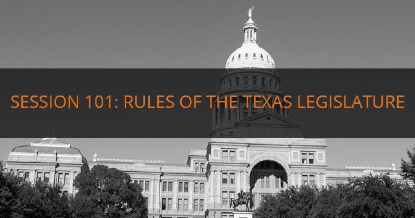 Rules Of The Texas Legislature