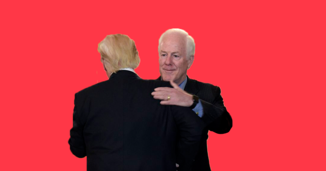 John Cornyn and Donald Trump