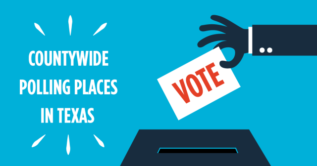 Texas countywide polling places