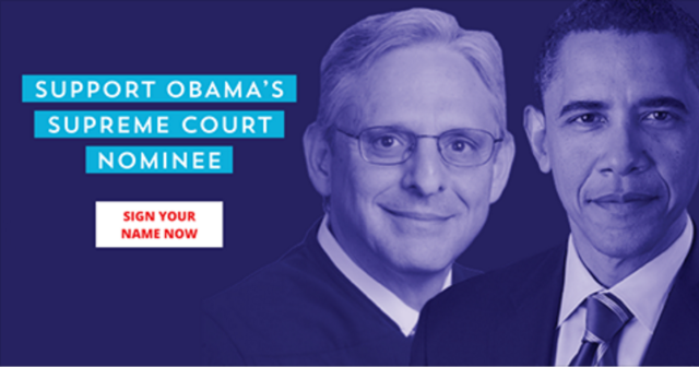 Supreme Court Nomination for Merrick Garland