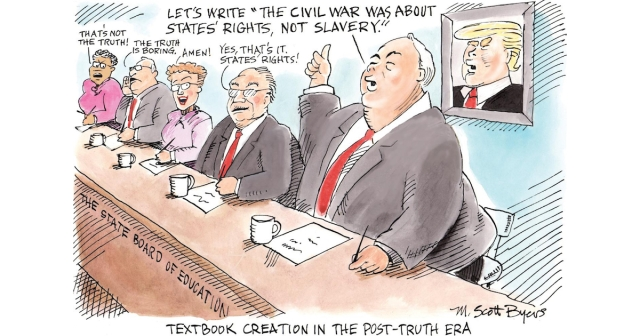 Textbook creation in a post-truth era
