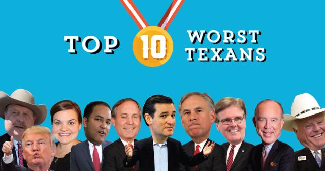 Top 10 Worst Texans of 2015