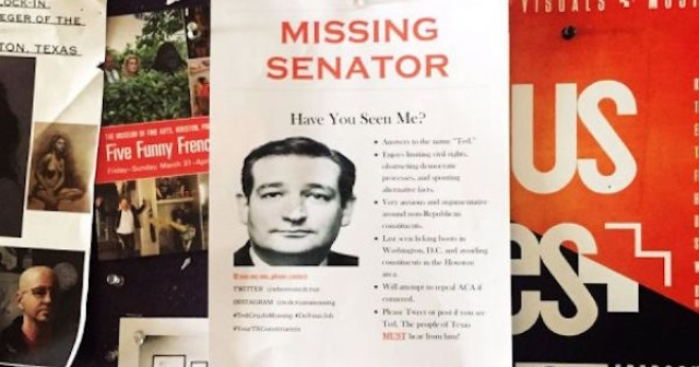 Ted Crus is Missing