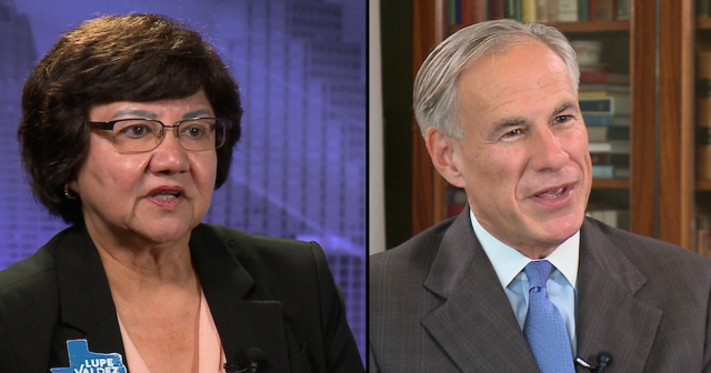 Lupe Valdez and Greg Abbott