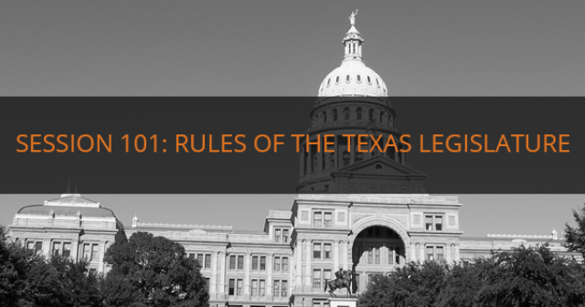 Rules Of The Texas Legislature