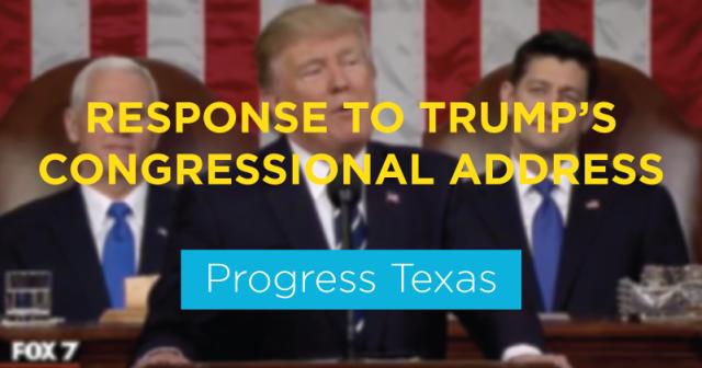 Trump's Congressional Speech