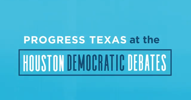 Houston Debate Progress Texas