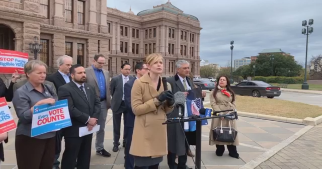 Voter Suppression Texas press conference
