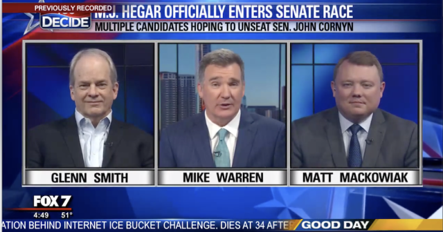 Glenn W. Smith joins FOX 7 to discuss if MJ Hegar can beat John Cornyn in 2020